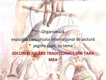 """CONCURS INTERNAȚIONAL DE PICTURĂ """"JOCURI ȘI JUCĂRII TRADIȚIONALE DIN ȚARA MEA"""""""